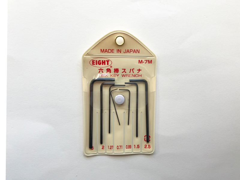 マウンドアダプター調整に使う六角レンチ