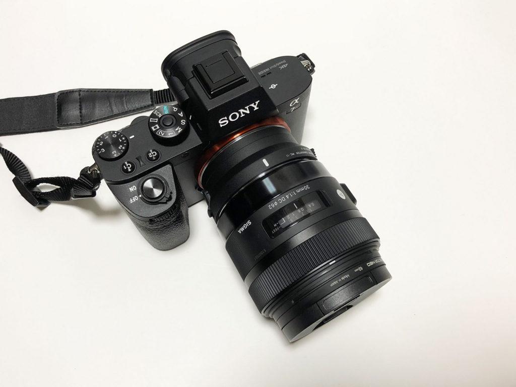 MC-11とSIGMA30mmF1.4