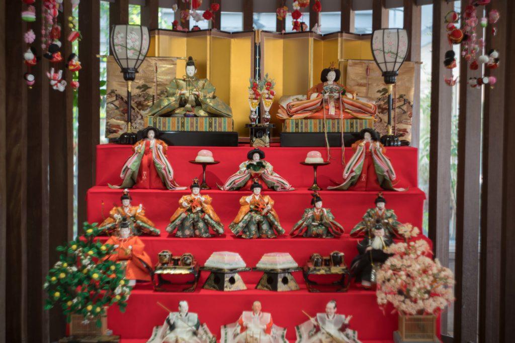 兵庫県立フラワーセンターの雛飾り