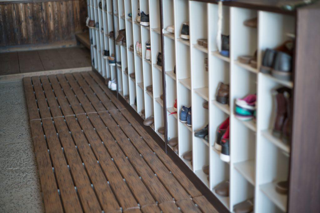 学校の靴箱
