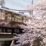 阪神電車と桜リフレバージョン