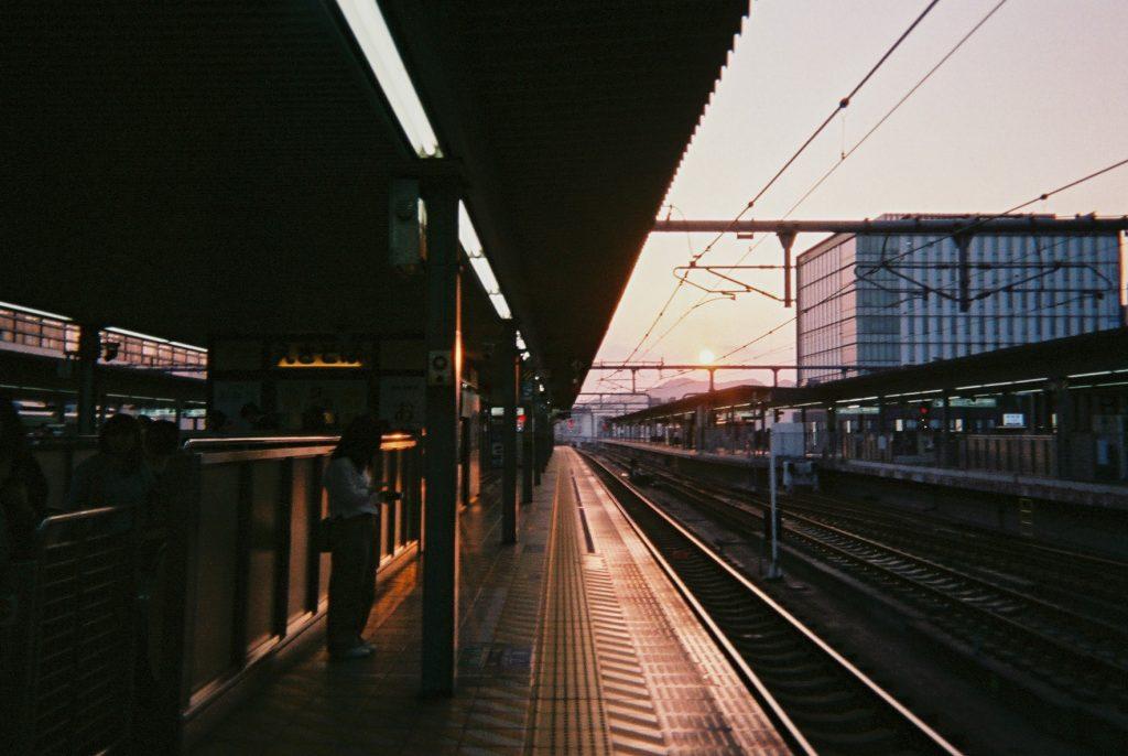 姫路駅の夕焼け