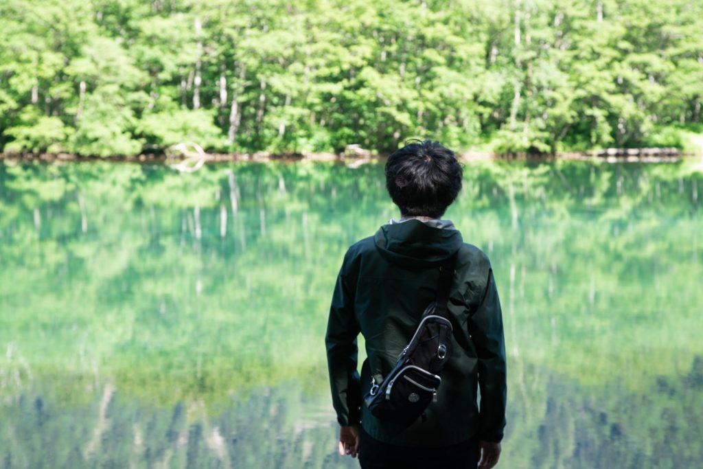 大正池と人