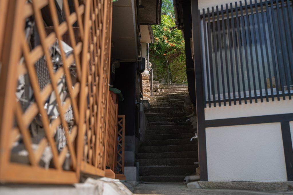 宮島の階段