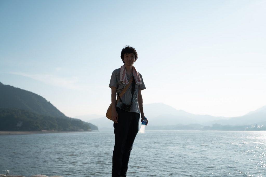 宮島でポートレート撮影