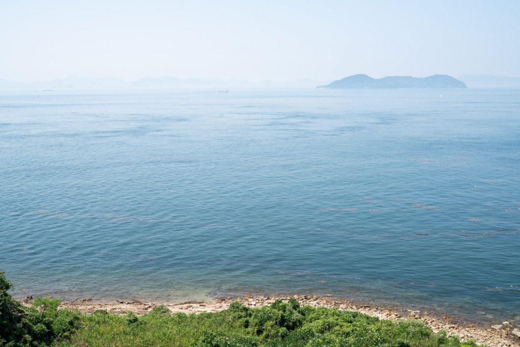 与島PA展望台からの景色