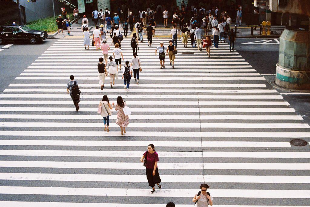 大阪駅の横断道