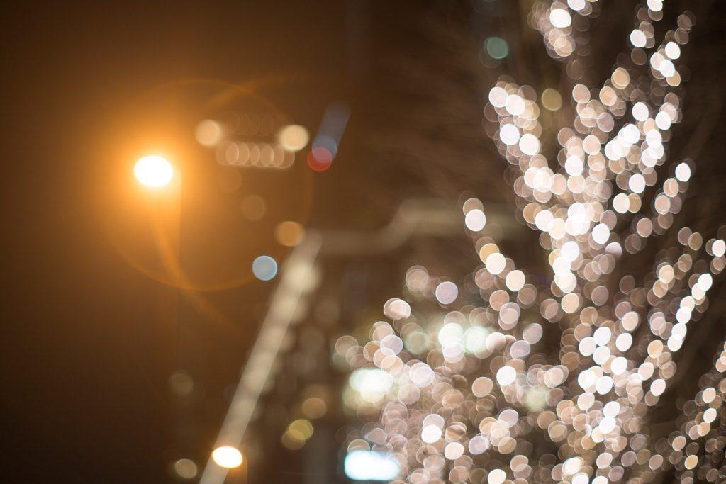 街灯の灯り