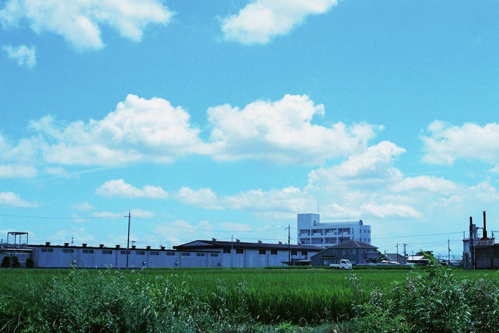 田んぼと工場