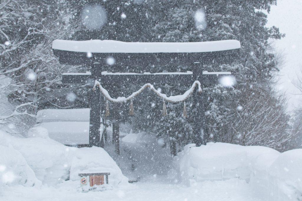 冬場の戸隠神社中社