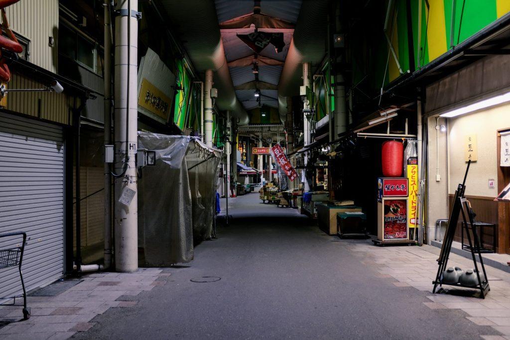 夜の近江町市場