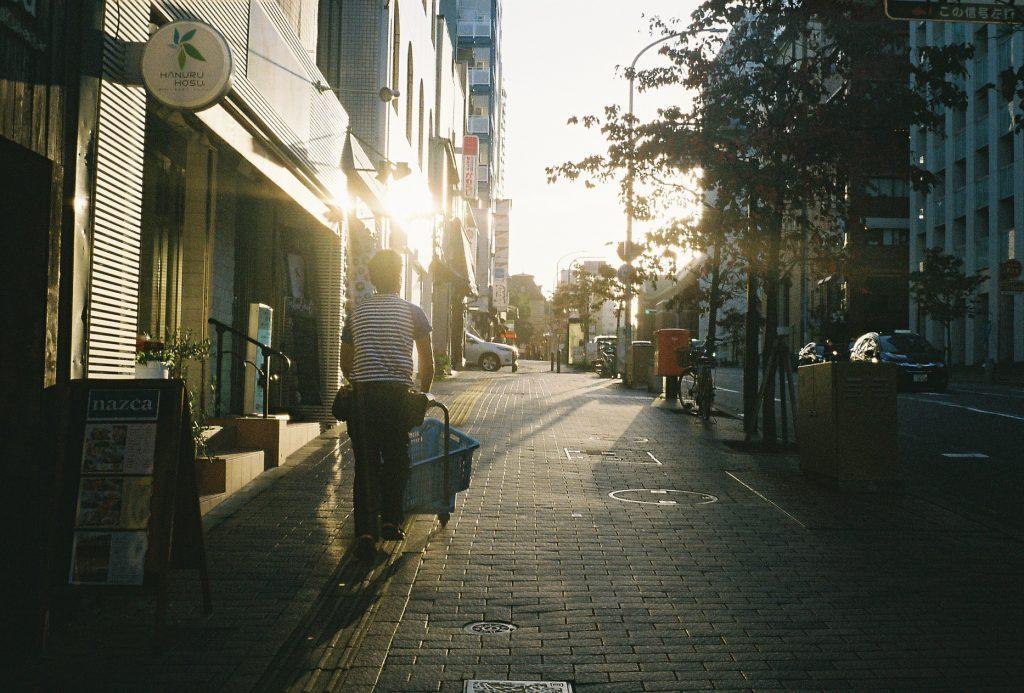夕日の佐川