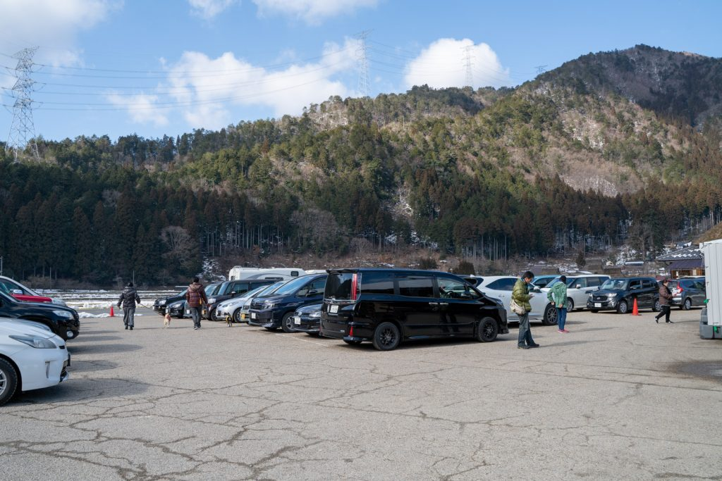 美山かやぶきの里 駐車場