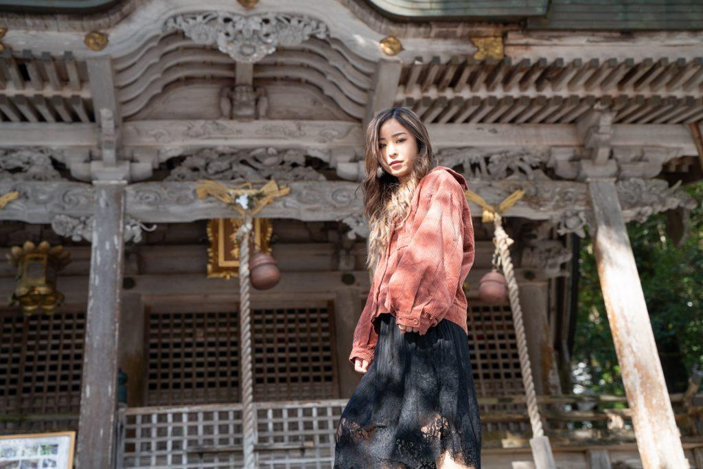 知井八幡神社前