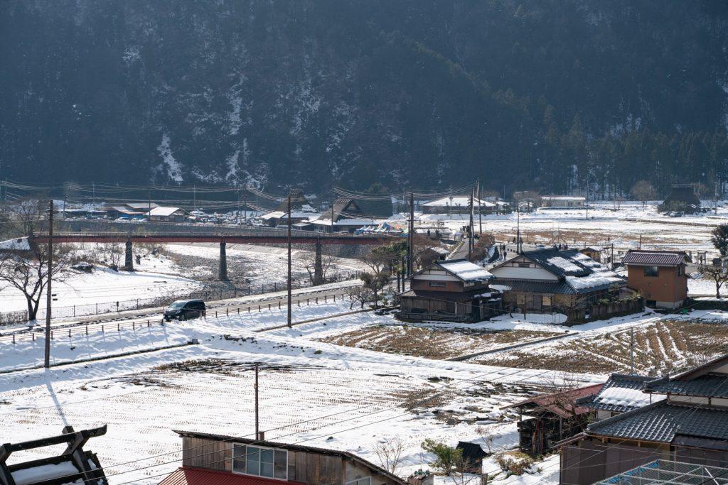 知井八幡神社からの眺め