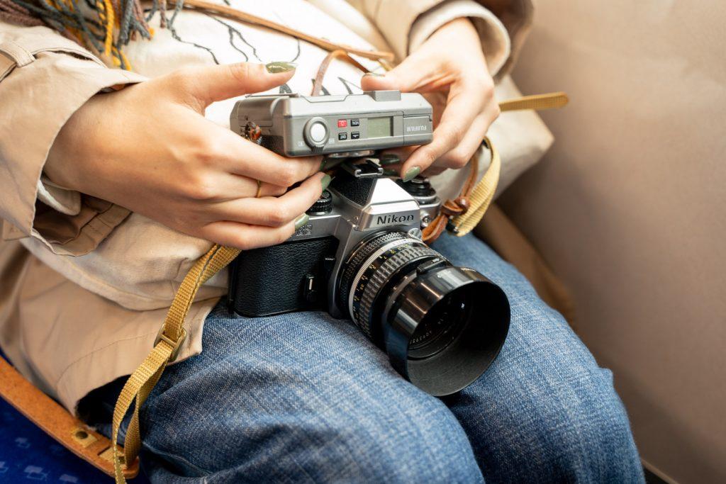 フィルムカメラ2台持ち