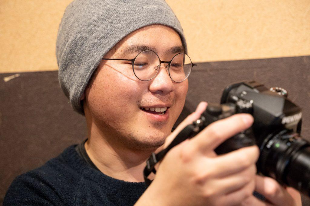 カメラと笑顔