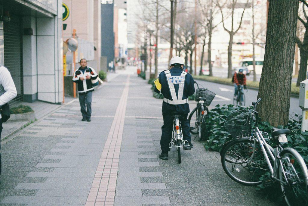 自転車警備員