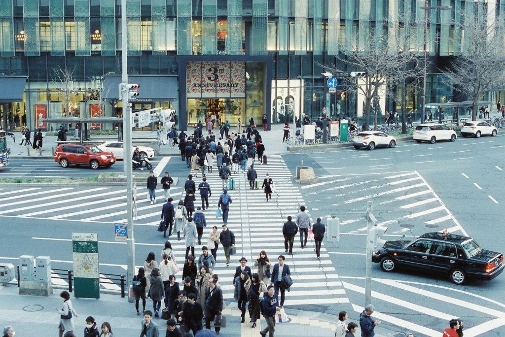 名古屋駅前横断歩道
