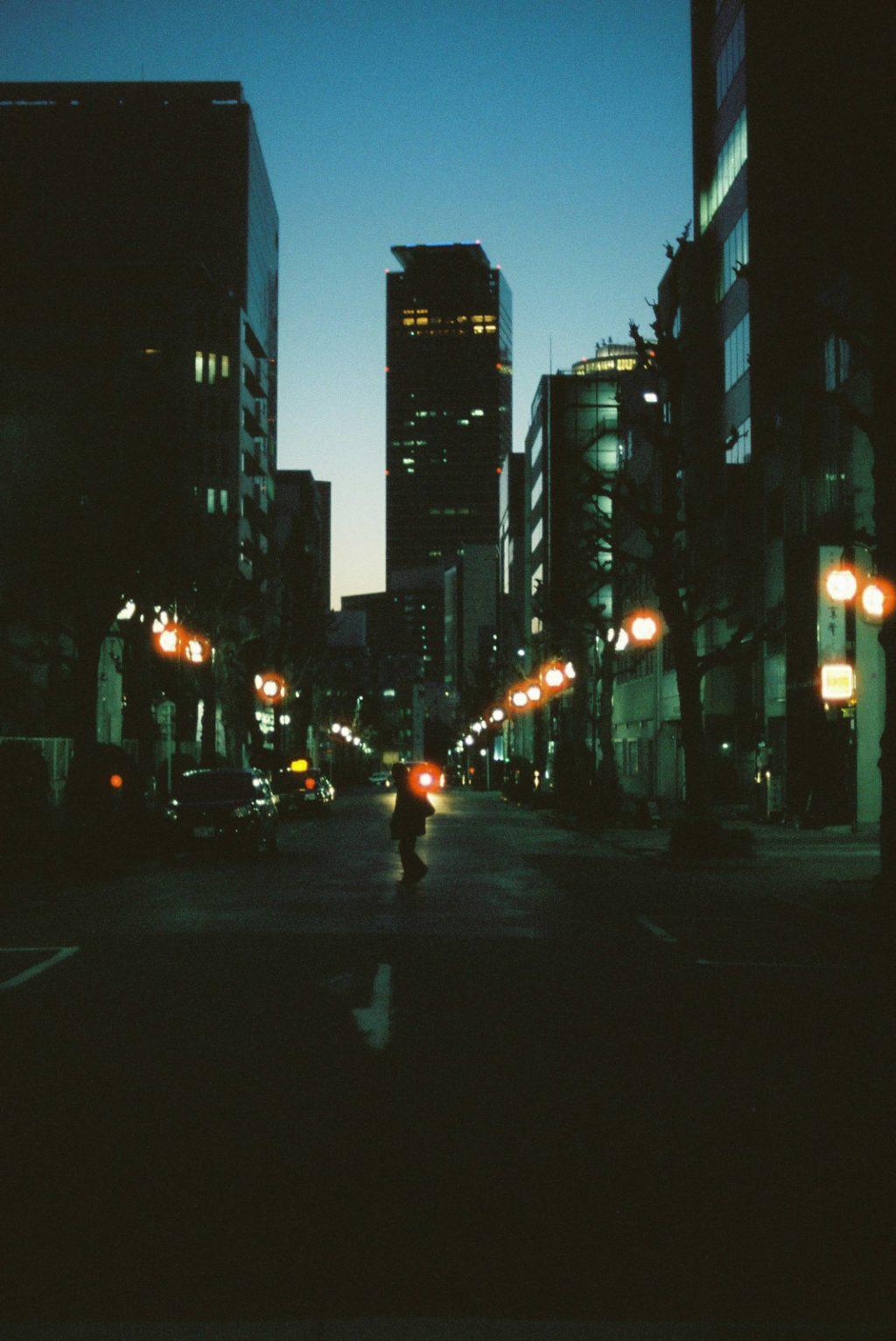 日の落ちた名古屋