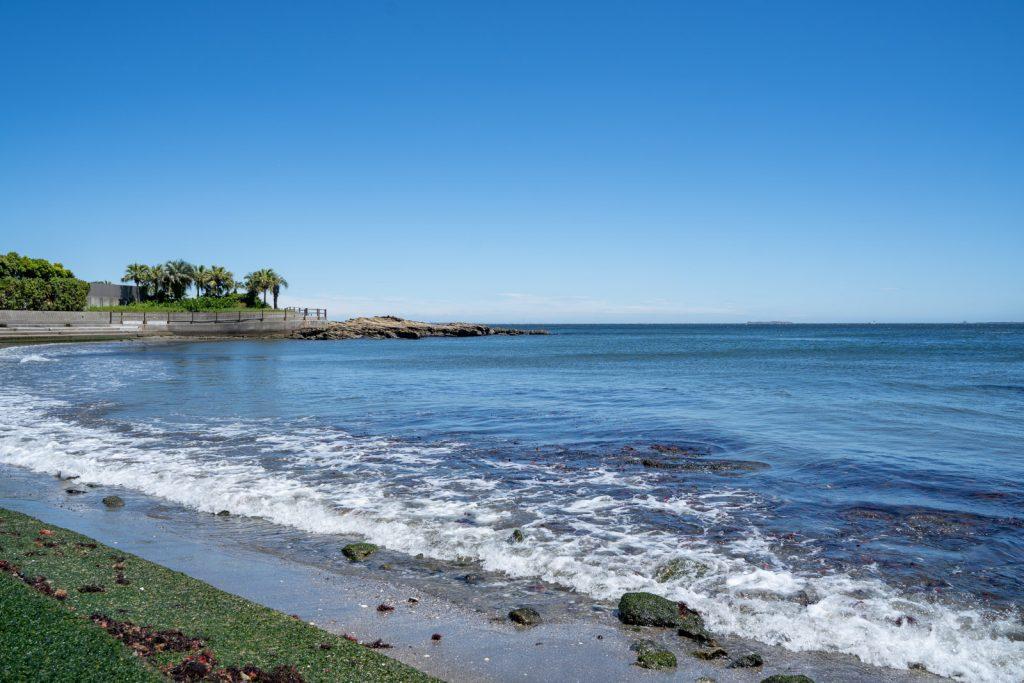 真っ青の海