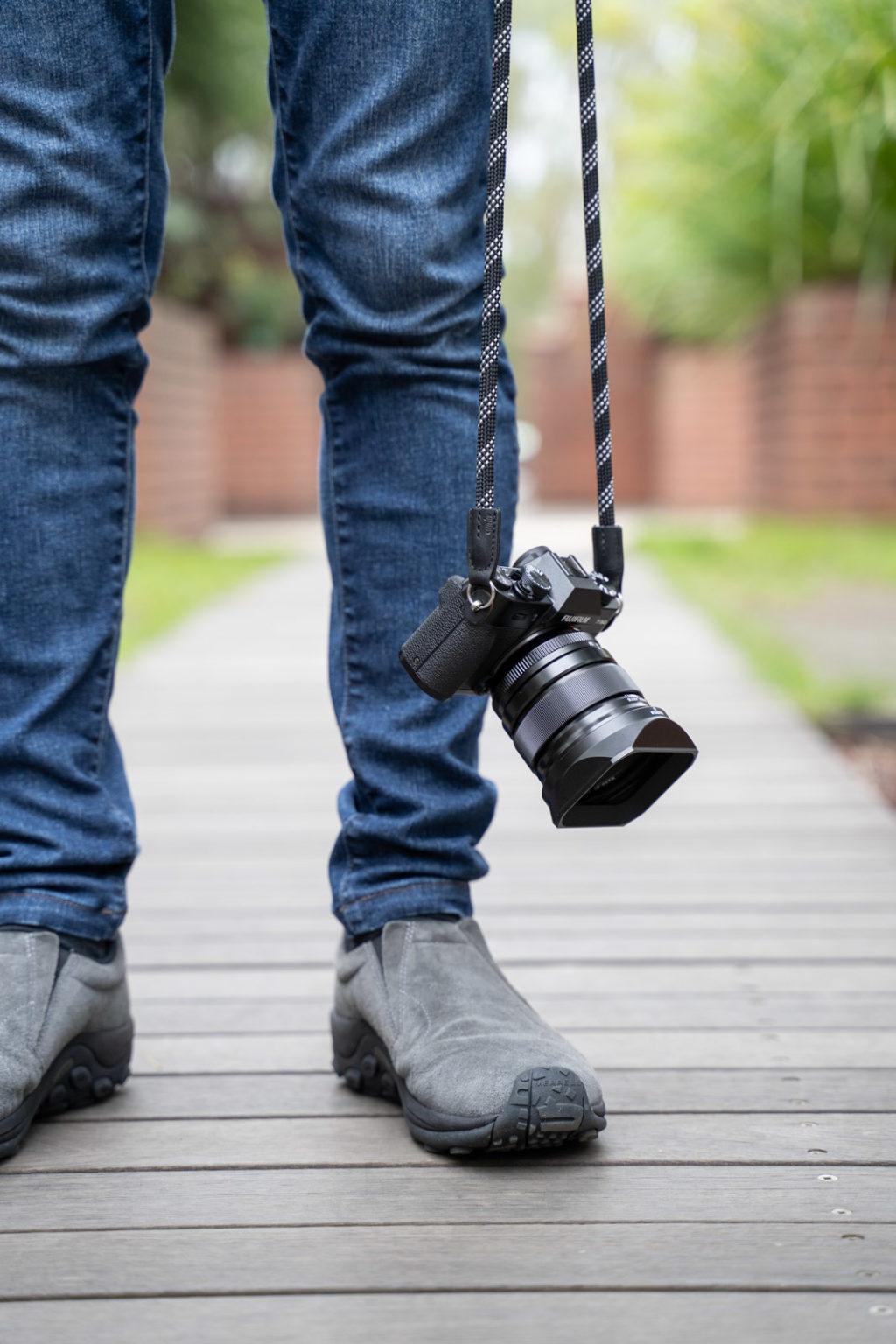 カメラとジーンズ