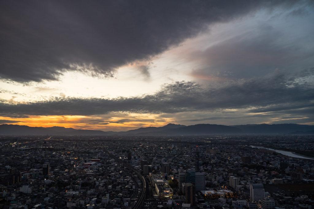 岐阜シティ・タワー43 夕日