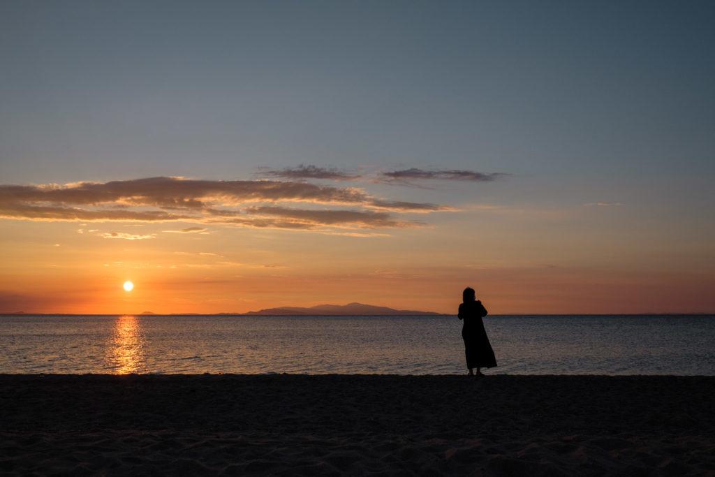 けひの海 夕日