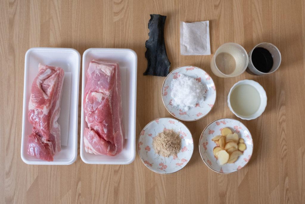 豚の角煮 材料